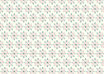 Sweet Fireworks and Circle Pattern on Pastel Background