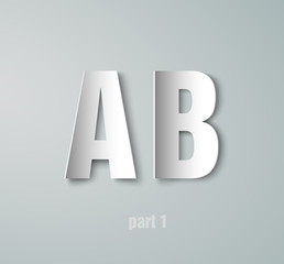 Vector Paper Graphic Alphabet A  B