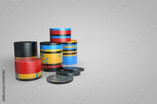 Poker Chips - Mixed