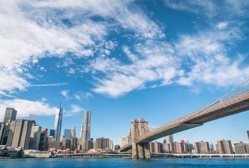 New York Skyline and Brooklyn Bridge