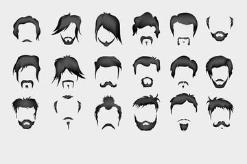 hair, mustache, beard