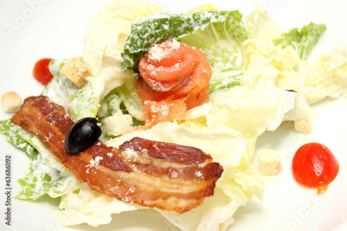 bacon salmon salad