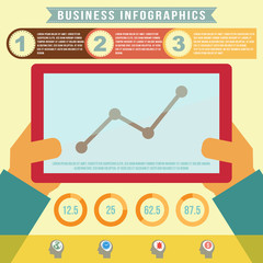 Business infographics, vector format