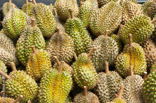 Fresh durian at the market