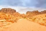 Colonnaded street in Petra, Wadi Musa, Jordan. poster