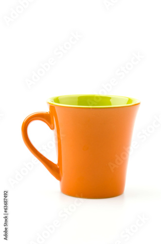 Isolated Orange mug