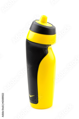 Sport water bottle isolated white background