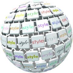 World of Style Ball Sphere Different Unique Diverse Designs
