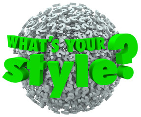 Whats Your Style Question Mark Unique Look Skills Fashion