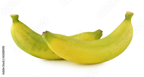banana isolated on white