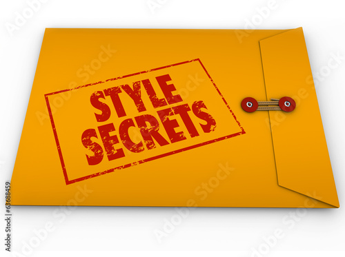Style Secrets Yellow Confidential Envelope Tips Advice Help