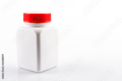 medicine bottle isolated white background