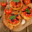 Toast with tomato