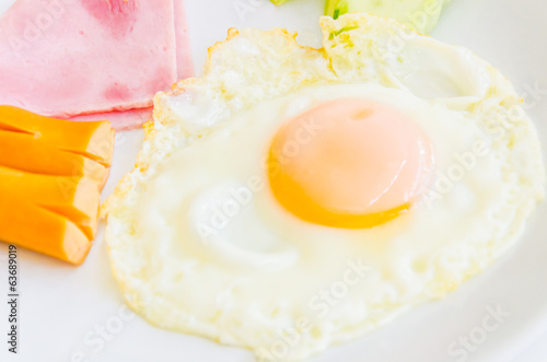 Fried egg and breakfast