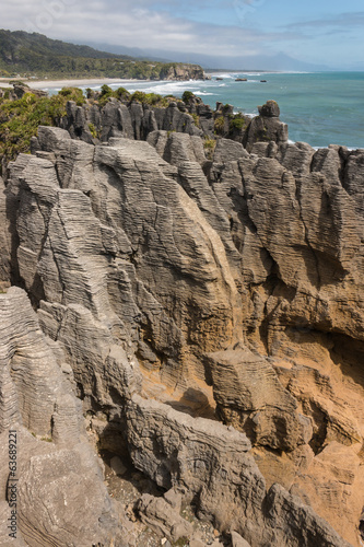limestone rock formation at Punakiki, New Zealand