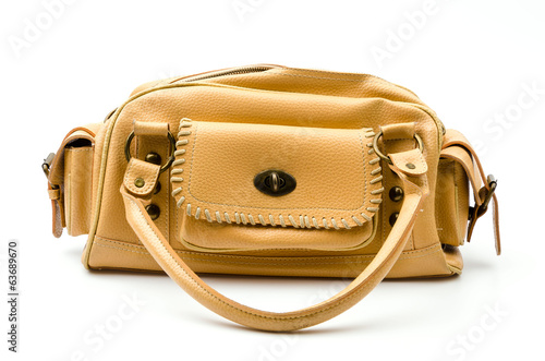 Women handbag isolated white background