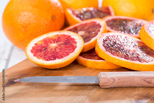 Portion of fresh Blood Orange