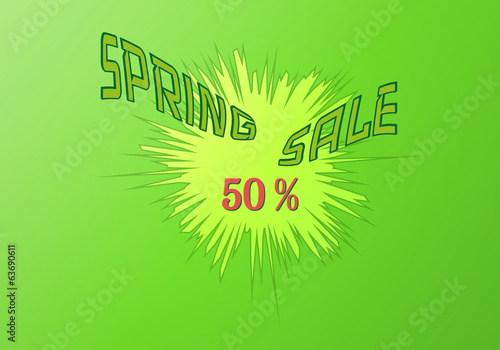 spring sale boom vector background