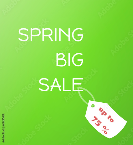 spring sale green gradient vector background