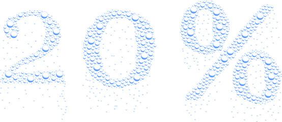 krople wody 20%
