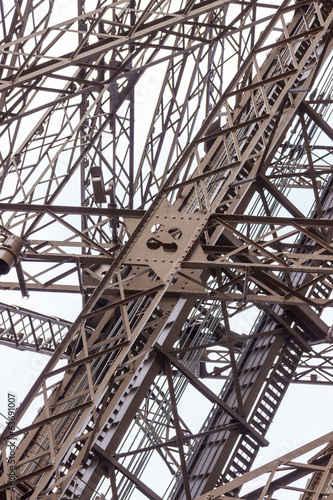 Architectural detail of the design of the Eiffel Tower