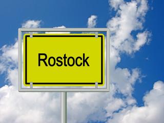 Rostock - Ortsschild
