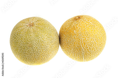 Two of ripe melon