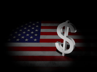 Usa flag with dollar sign