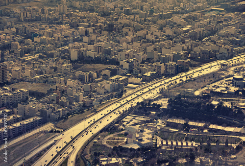 Aerial View of a Main Highway in Tehran