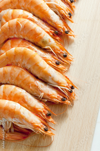 still life of raw prawns