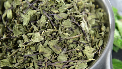 Heap of dried Mint