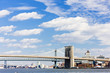 Brooklyn Bridge and Manhattan Bridge, New York City, USA