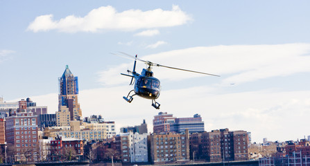 helicopter, Brooklyn, New York City, USA