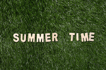 Summer Time Wooden Sign On Grass