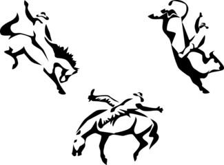 stylized rodeo