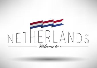 Netherlands Flag Typography Design