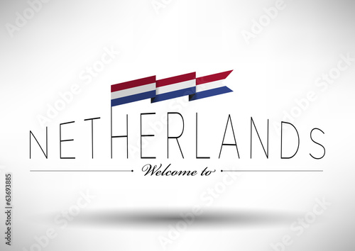 Netherlands Flag Typography Design