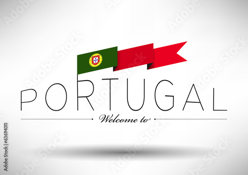 Portugal Flag Typography Design