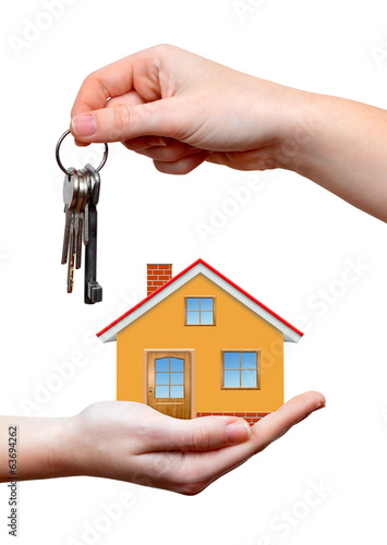 The house with keys in hands