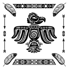 Tribal indian eagle tattoo
