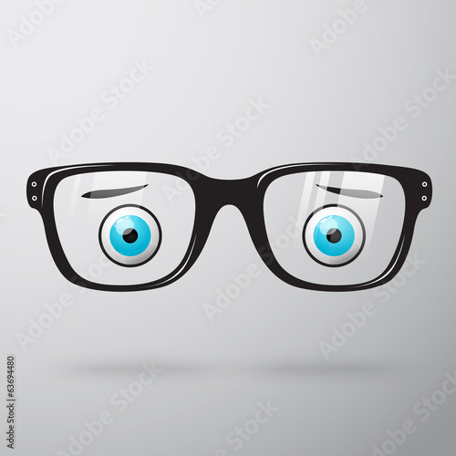 Worried glasses with eyes