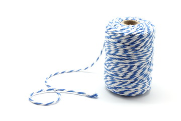 Blue and white string