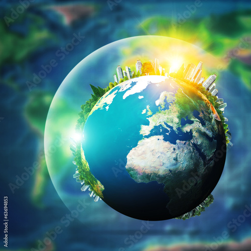 Global sustainable development concept, environmental background