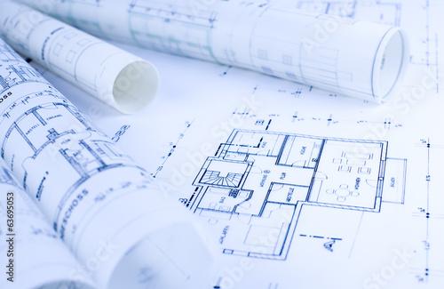 Architektur, Skizzen, Rollen - 63695053