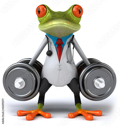canvas print picture Frog doctor