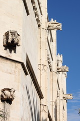 Gargoyles at La Lonja monument in Palma de Mallorca, Spain