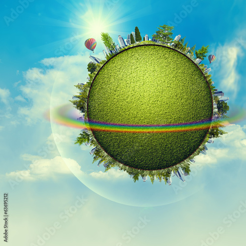 Green Planet. Funny environmental backgrounds for your design