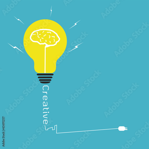 Light bulb creative idea,vector design