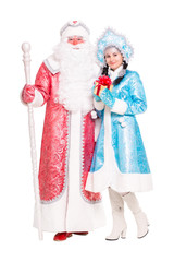 Russian Christmas characters Ded Moroz and Snegurochka