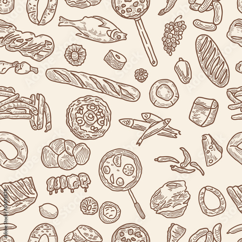 pattern of the foodstuff
